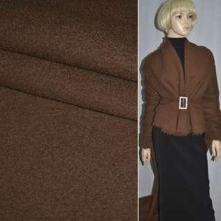 ткань пальтовая коричневая однотонная ш.150