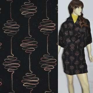 драп черный с вышивкой ш.146