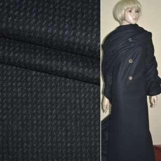 """Ткань пальтовая черная с фиолетовыми мелкими штрихами """"PHILIPР"""" Германия ш.152"""
