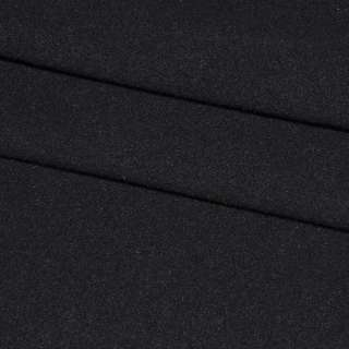 ткань пальтовая черная ш.150 см.