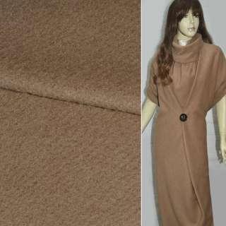 Ткань пальтовая свет. коричневая
