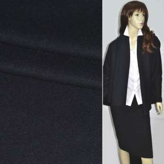 Ткань пальтовая черная-диагональ ш.150