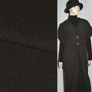 Кашемир темно-коричневый однотон. ш.150 см.