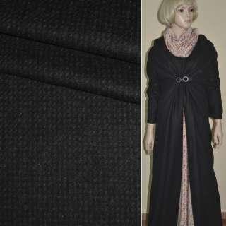 """Тканина пальтова чорна з коричневими дрібними штрихами """"PHILIPР"""" Німеччина ш.151"""