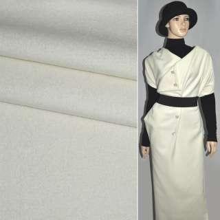 Ткань пальтовая молочная ш.150