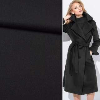 Ткань пальтовая BOSS черная, ш.155
