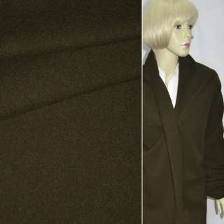 Ткань пальтовая темно-болотная однотонная ш.150