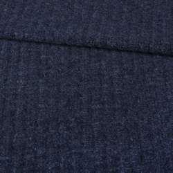 """Трикотаж пальтовый """"GERRY WEBER"""" синий темный меланж, ш.145"""