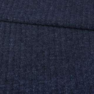 """Трикотаж пальтовий """"GERRY WEBER"""" синій темний меланж, ш.145"""