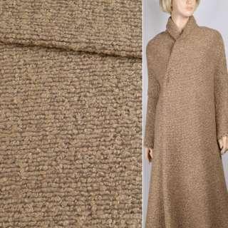 """Трикотаж пальтовый """"GERRY WEBER"""" бежево-коричневый, ш.148"""