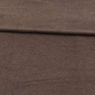 Кашемир пальтовый коричнево-серый ш.150