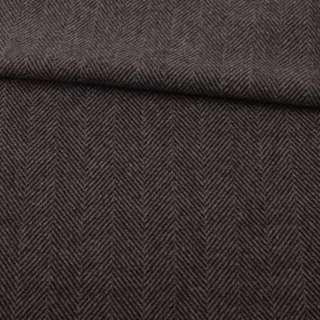 Полушерсть пальтовая Bogner елочка коричневая темная, ш.153