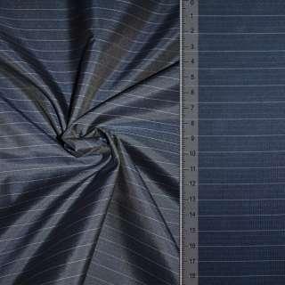 "ткань подклад. синяя в узкую полоску ""PHILIPP"" Германия ш.154"