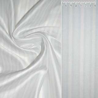 Вискоза  белая  в светло серую полоску