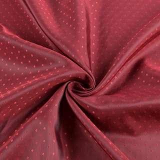 Вискоза подкладочная бордовая хамелеон в красные ромбы, ш.145