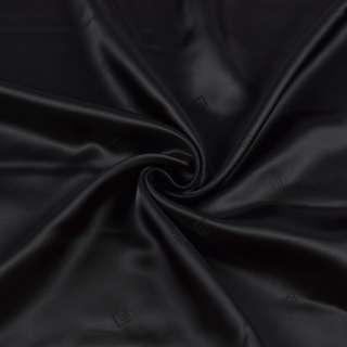 Вискоза подкладочная с логотипом черная, ш.140