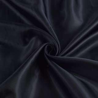 Вискоза подкладочная черная диагональ, ш.145