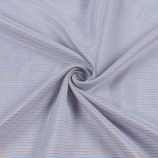 Вискоза подкладочная в бежево-голубую полоску, ш.141
