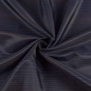 Вискоза подкладочная синяя в тонкую бежевую полоску, ш.145