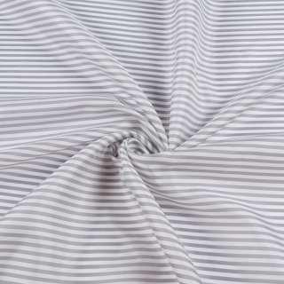 Віскоза підкладкова в сіро-білу смужку, ш.141