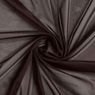 Сетка стрейч коричневая темная, ш.150