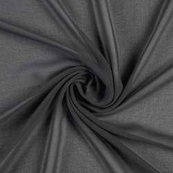 Креп-шифон серый темный, ш.150