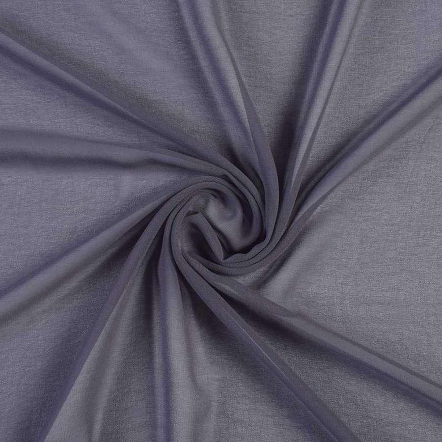 Креп-шифон синій з сірим відтінком, ш.150