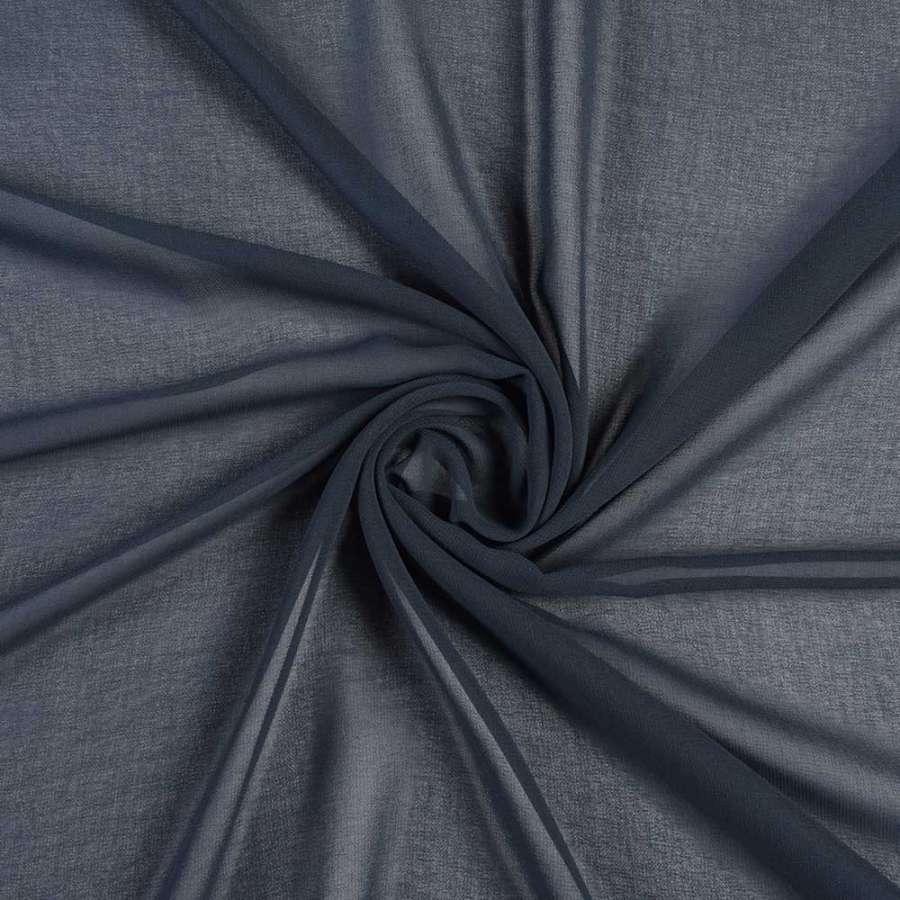 Креп-шифон синий темный, ш.150