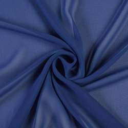 Креп-шифон синий, ш.150