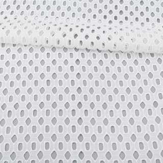 Шитье белое хлопок, ажурные ромбы и прямоугольники, ш.140