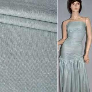 """Ткань костюмная бледно-голубая в """"елочку"""", ш.160"""