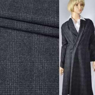 """Шерсть костюмна """"CERRUTI"""" в сіро-чорну клітинку (2 мм) ш.155"""