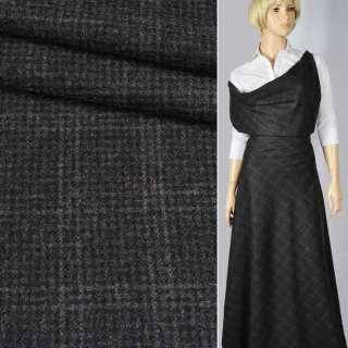 """Шерсть костюмна """"CERRUTI"""" в сіро-чорну клітинку (2 мм) ш.160"""