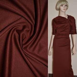 Трикотаж коричнево красный ш.150