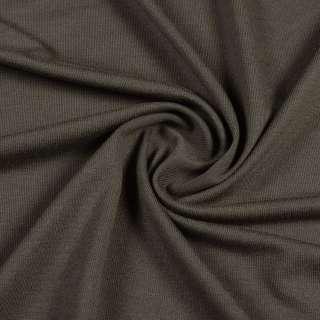 Трикотаж вискозный стрейч оливковый темный, ш.180
