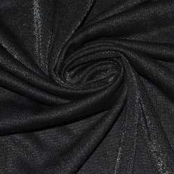 Трикотаж черный с полиамидом ш.148