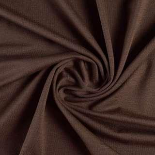 Трикотаж вискозный с эластаном коричневый темный ш.155