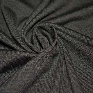 Трикотаж віскозний стрейч коричневий темний ш.155