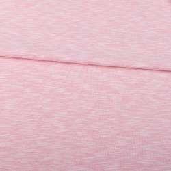 Футер двунитка розовый меланж, ш.150
