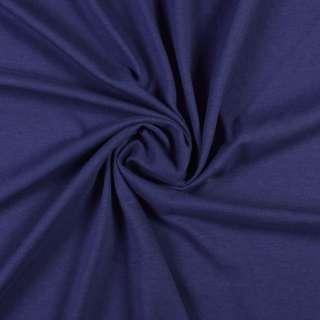 Трикотаж хлопковый синий темный, ш.156