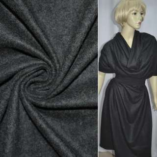 Трикотаж шерстяной серый темный ш.150