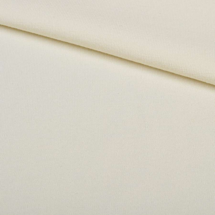 Трикотаж резинка молочный, ш.125