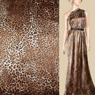 """Шовк бежево-коричневий """"леопард"""" ш.135"""