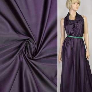 Шелк искусственный фиолетово-черный, ш.160