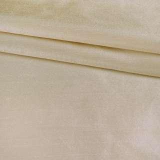 Шовк атласний щільний золотисто-перлинно-білий ш.138