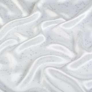 Шовк атласний молочний в сірі зірочки ш.136