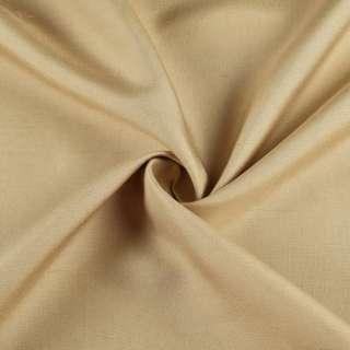 Шовк костюмний натуральний гірчичний світлий в розчерки ш.135