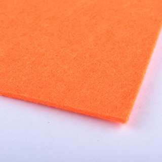 Войлок (для рукоделия) оранжевый неоновый (2мм) ш.100