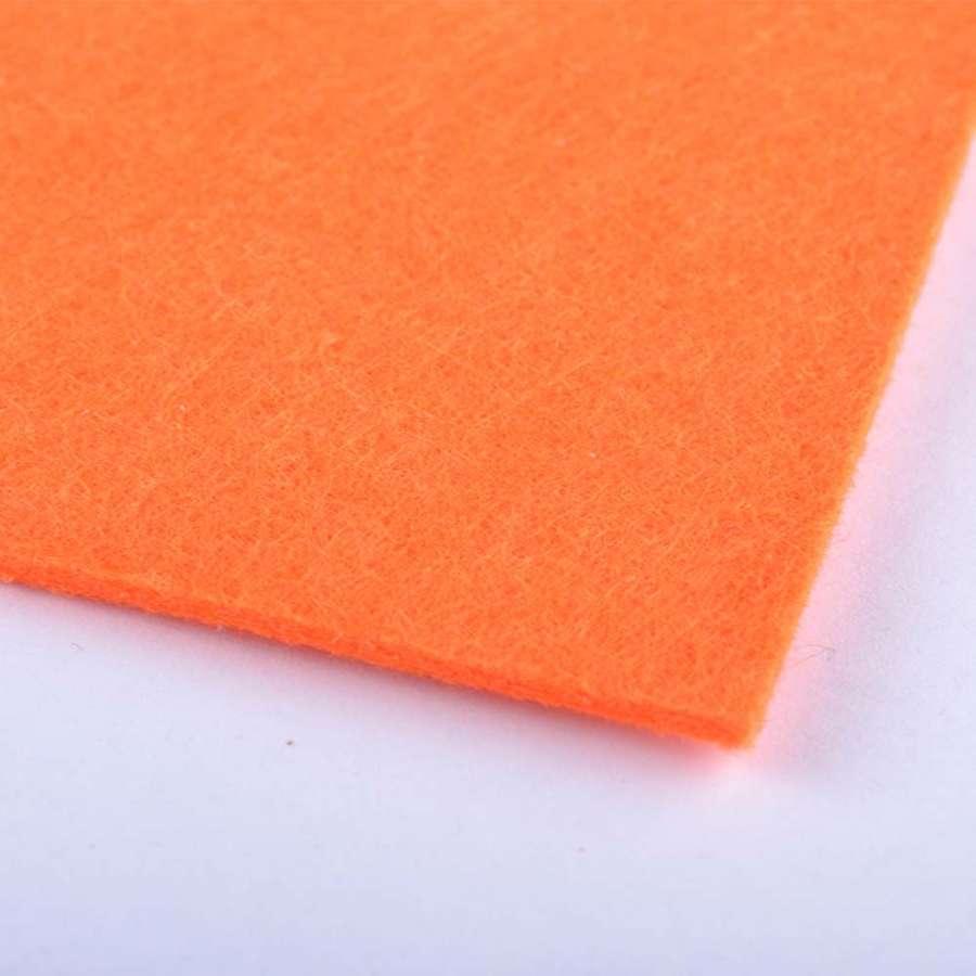 войлок (для рукоделия) морковный (2мм) ш.100