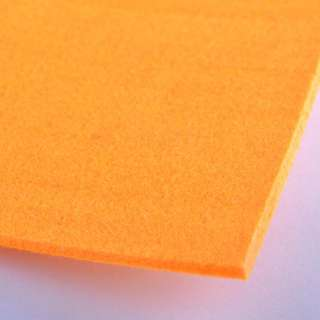 Повсть (для рукоділля) помаранчева (3 мм) ш.100